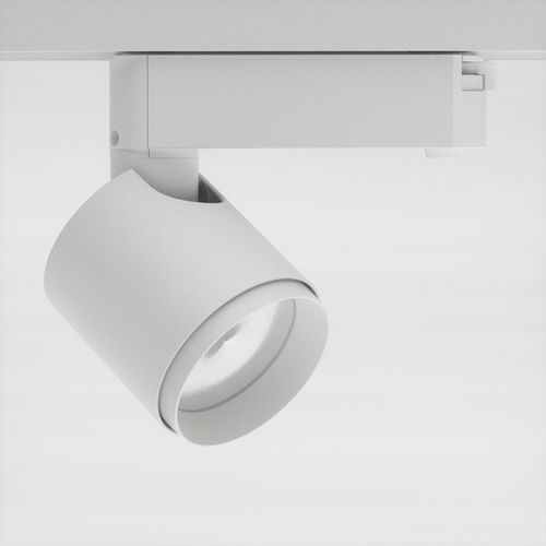 Led white track light with incorporated electronic gear and chip on board improved color rendering