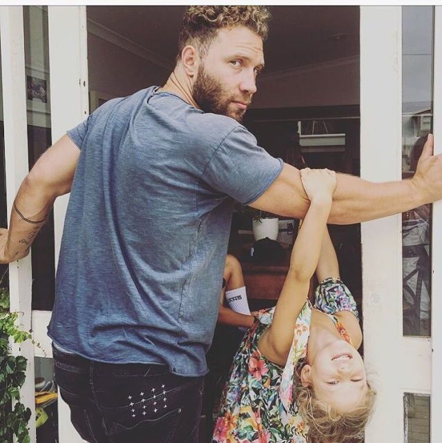 Jai Courtney w/ godchildren.