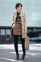 H boots - trenchcoat Primark coat - tiger lucky star shirt - Hallhuber bag