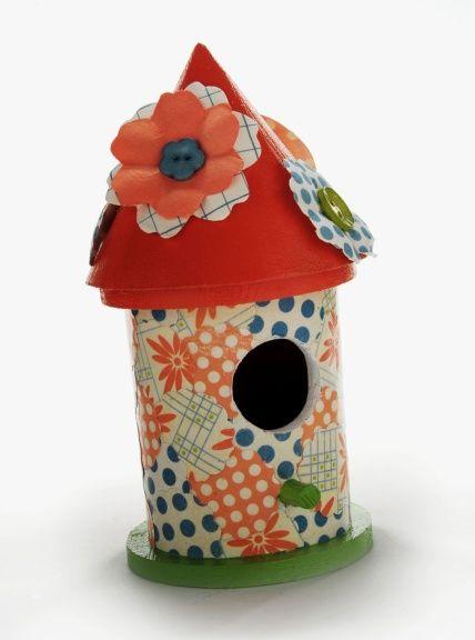 mod podge bird house