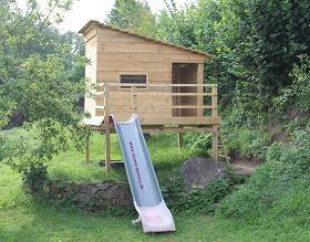 Amazing Stelzenhaus Spielhaus selber bauen einfache Anleitung detaillierte Bauanleitung diy Garten