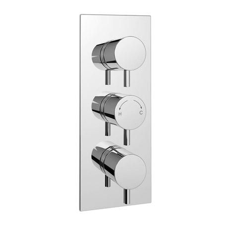 cruze triple round concealed shower valve chrome