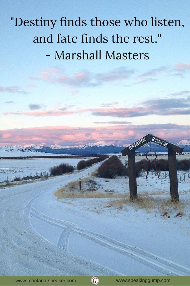"""""""Destiny finds those who listen, and fate finds the rest.""""  - Marshall Masters  #MDI"""