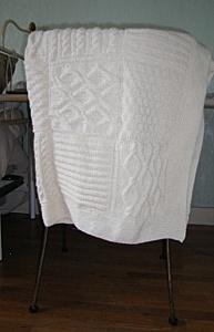 Un plaid à damiers au tricot - Inspirations Créatives