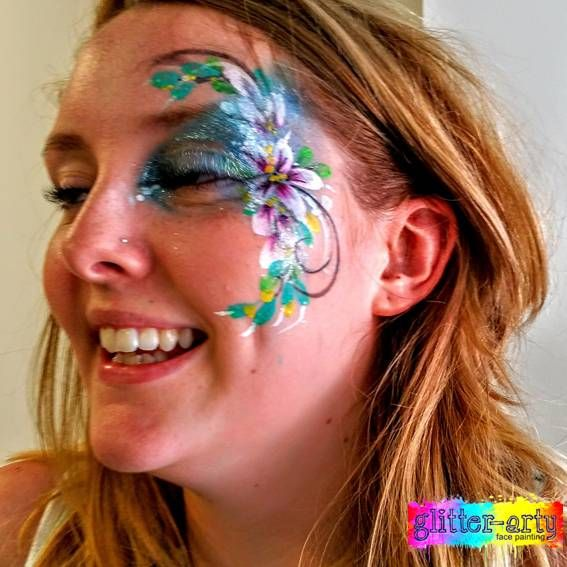 Beautiful sparkly eye designs / arty make-up / face art by Glitter-Arty Face Painting, Bedford, Bedfordshire