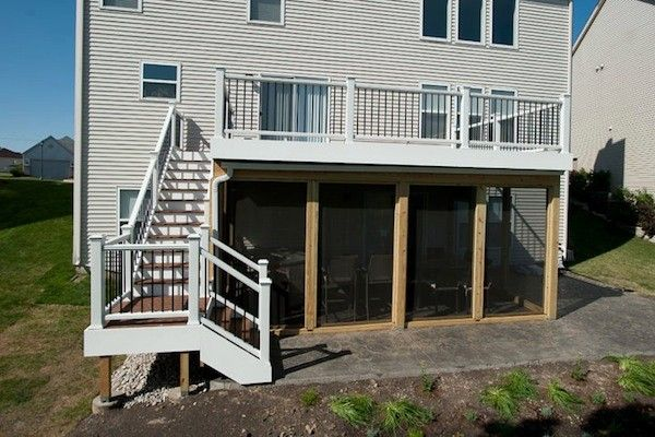Trex Deck And Under Deck Screen Room In Lake County Built