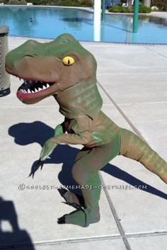 Coolest Homemade Dinosaur Costume... This website is the Pinterest of Halloween costumes for kids