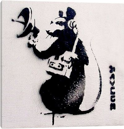 Spy Rat Canvas Art Print