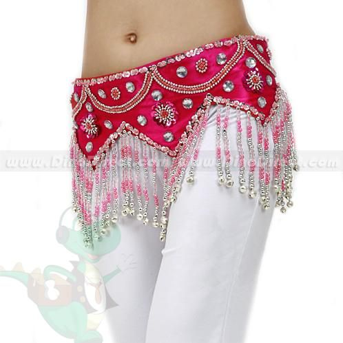 wholesale aozidao top grade beading bells hip scarf belly