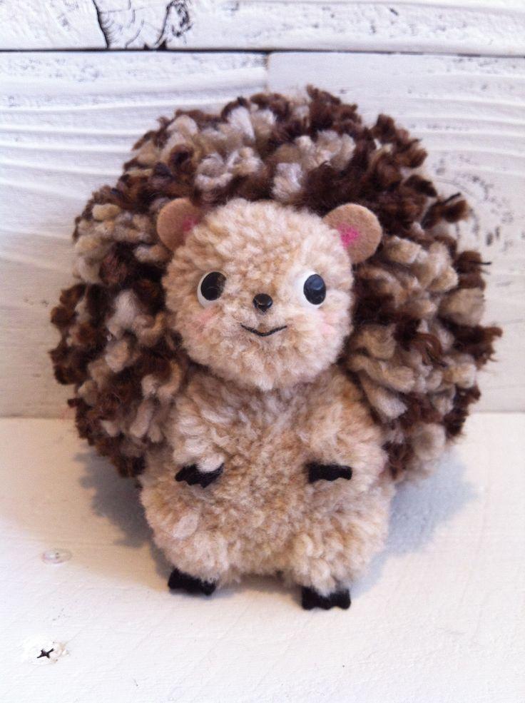 https://flic.kr/p/npqNx4 | Hedgehog Pom Pom sculpture