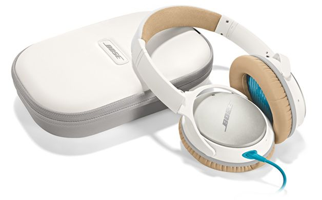 QC25 headphones, better by design. Bose QuietComfort® 25 headphones are engineered to sound better, be more comfortable and easier to take with you. Put them on, and suddenly everything changes. Your music is deep, powerful and balanced, and so quiet that every note sounds clearer. $299.95