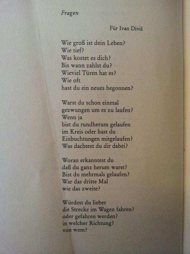 """""""Fragen"""" by Erich Fried"""