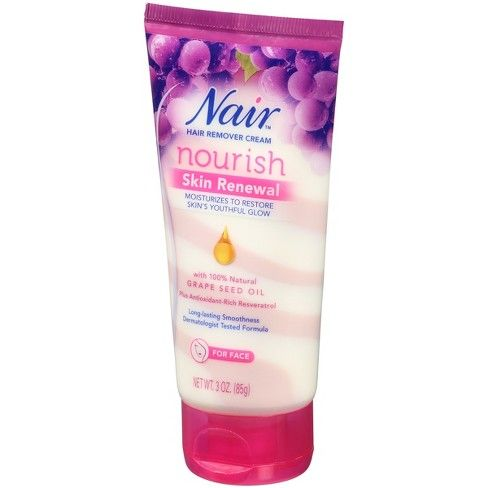 Nair Skin Renewal Grape Seed Oil Hair Removal Cream For Face 3oz Target With Images Hair Removal Cream Face Cream Natural Hair Mask