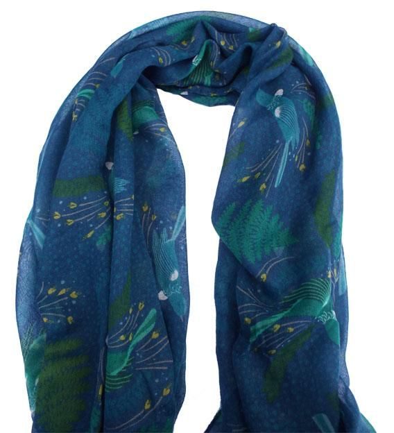 NZ+Blue+and+Green+Tui+Bird+Scarf  http://www.shopenzed.com/nz-blue-and-green-tui-bird-scarf-xidp1306844.html