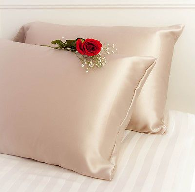 1PC New Queen/Standard or king size Silky Satin PillowCase Multiple Colors