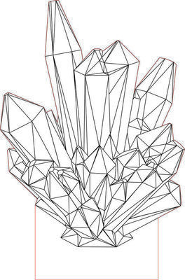 Crystal 2 3D illusion LED lamp vector file