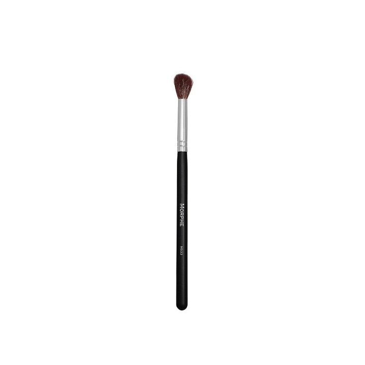 """M533 - FLAWLESS PRO BLENDER Morphe $ 6.99 Quantity 1 ADD TO CART View in Wishlist This brush has shorter bristles and a domed tip to create crease looks that are stronger and more pigmented. It's also great to blend out lines and mesh transitional shades. Bristle Type: Sable Dimensions: Bristles: 3/4"""" Full Length: 7'"""