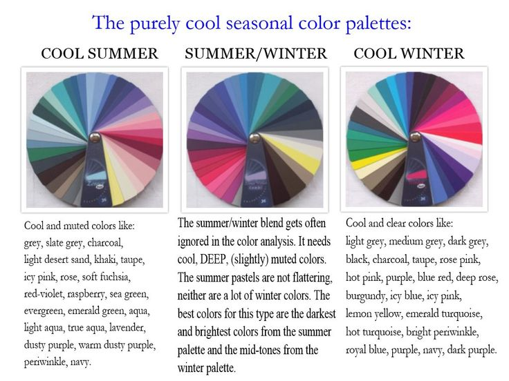 The Purely Cool Seasonal Color Palettes The Cool Summer
