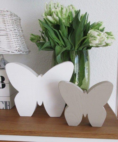 Cool Fr hlingsdeko Gro er Schmetterling aus Holz