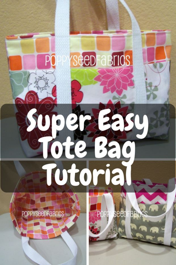 Super Easy Tote Bag Tutorial - New Craft Works