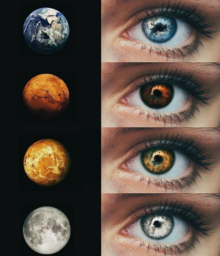 What happens when your element is reflected in your eyes?