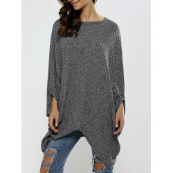 SHARE & Get it FREE | Batwing Sleeve Ribbed Asymmetrical Loose-Fitting KnitwearFor Fashion Lovers only:80,000+ Items • FREE SHIPPING Join Twinkledeals: Get YOUR $50 NOW!