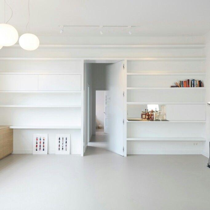 Maatwerk Boekenkast met zwevende planken