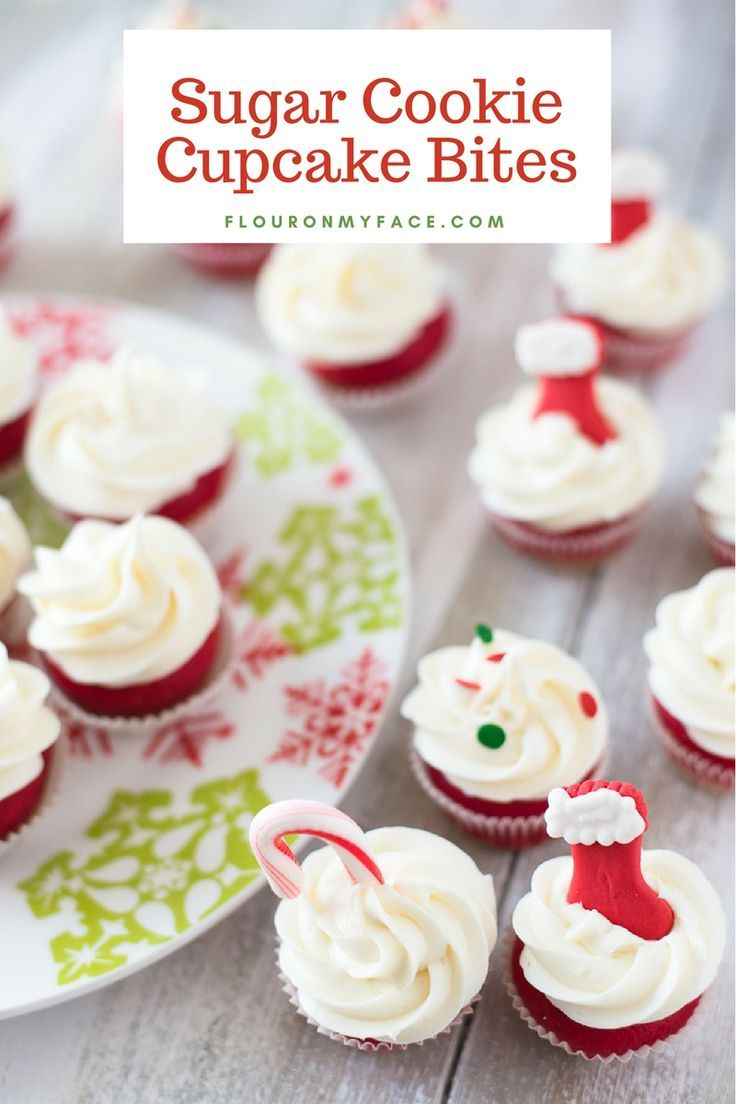 Holiday Sugar Cookie Cupcake Bites