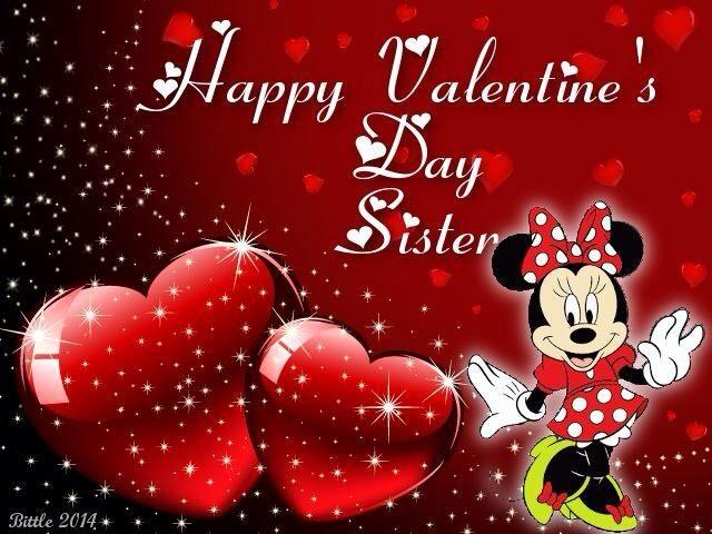 Happy Valentineu0027s Day Sister With Minnie