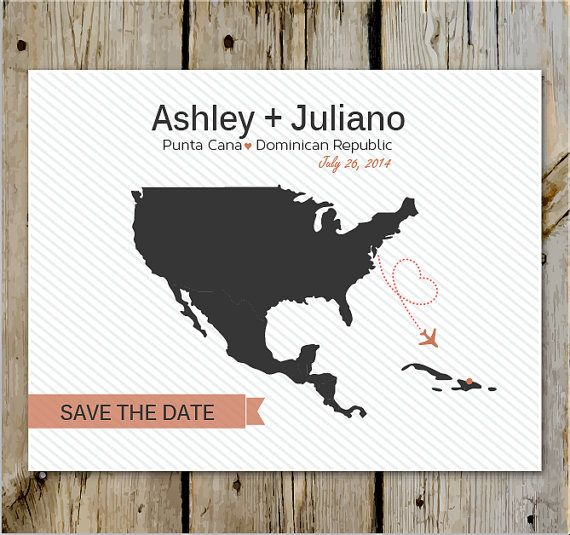 Destination Wedding Save the Date- Print Yourself or Add a Print Package on Etsy, $28.33 AUD