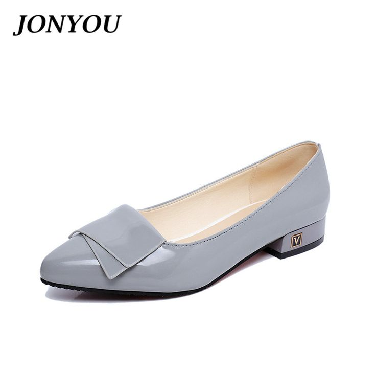Spring 2017 Brand Women Pumps High Heels Wedding Pink Shoes Woman Ladies Boat Shoes Footwear Chaussure Femme Thick Low Heels