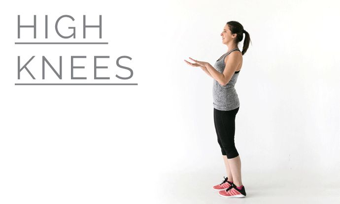 How to do high knees - 12 Week Wedding Workout #LPBLiveWell