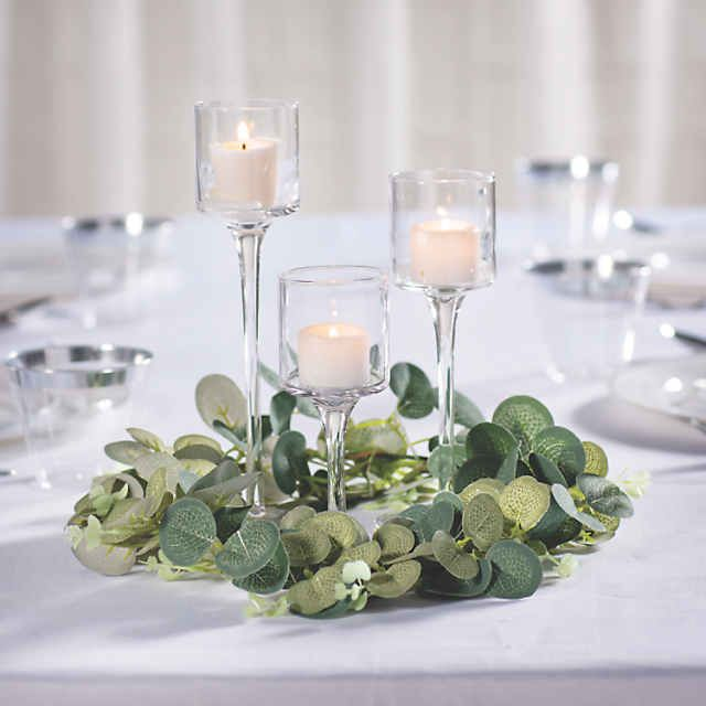 Stemmed Votive Candle Holders In 2020 Candle Wedding Centerpieces Pretty Wedding Centerpieces Simple Wedding Centerpieces