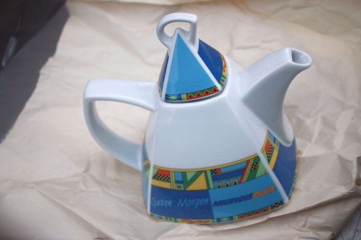 Selfmann Weiden Geometric Modern Teapot with Mugs, Selfman Micardis HTF  | eBay
