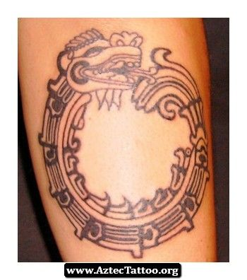 Aztec Tattoos Snake 07 - http://aztectattoo.org/aztec-tattoos-snake-07/