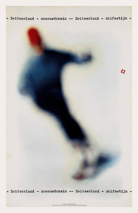 vintage ski poster / 1962 promoting winter sunshine sports holidays in Switzerland, designed by Franz Fässler and Fred Mayer.