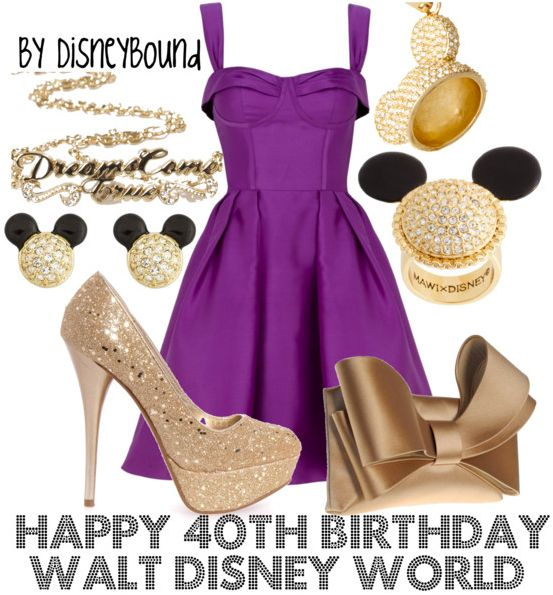 happy 40th birthday walt disney world by disney bound