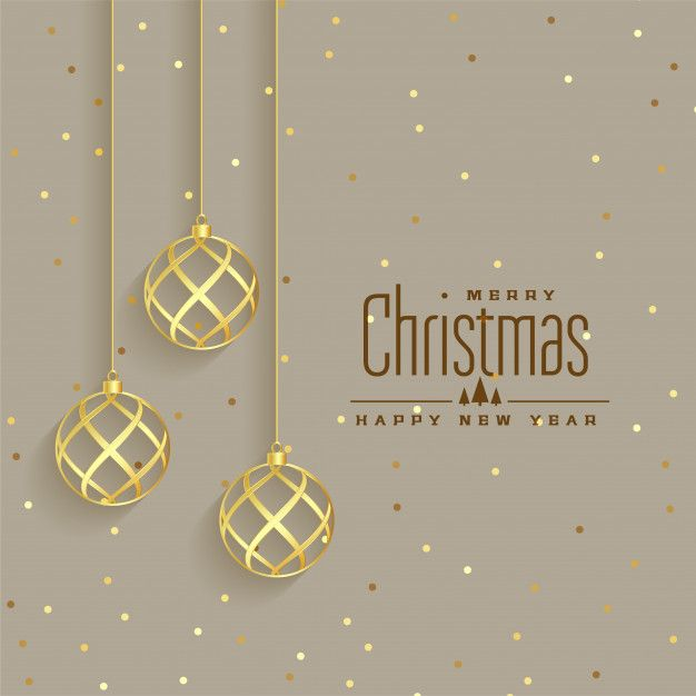 Download Elegant Golden Christmas Balls Premium Background For Free Christmas Balls Christmas Wishes Messages Christmas Party Invitation Template