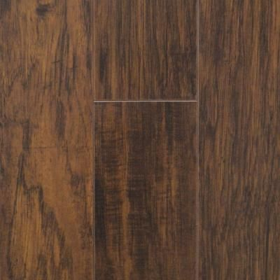 Trafficmaster farmstead hickory 12 mm thick x in for Square laminate floor tiles