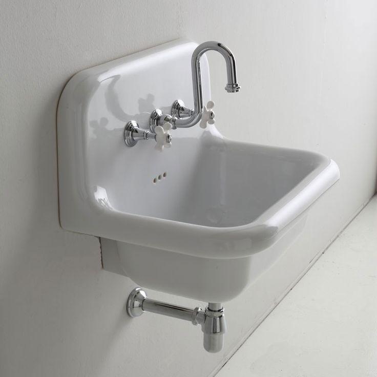 Vasque rétro en céramique 60 cm -True Colors - Blanc # lavabo #rétro