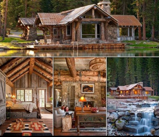 Log cabin on the water #country   Things I would like ...