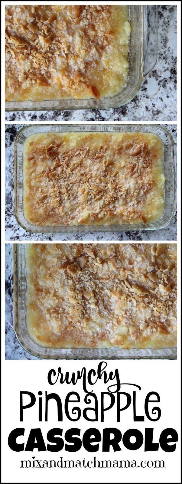 Crunchy Pineapple Casserole is the PERFECT side for you holiday suppers!