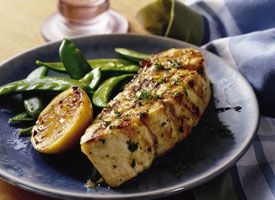 Grilled Lemon Garlic Halibut Steaks Recipe - Tablespoon