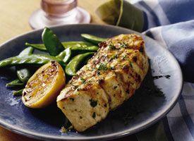 Grilled Lemon Garlic Halibut Steaks Recipe - Tablespoon