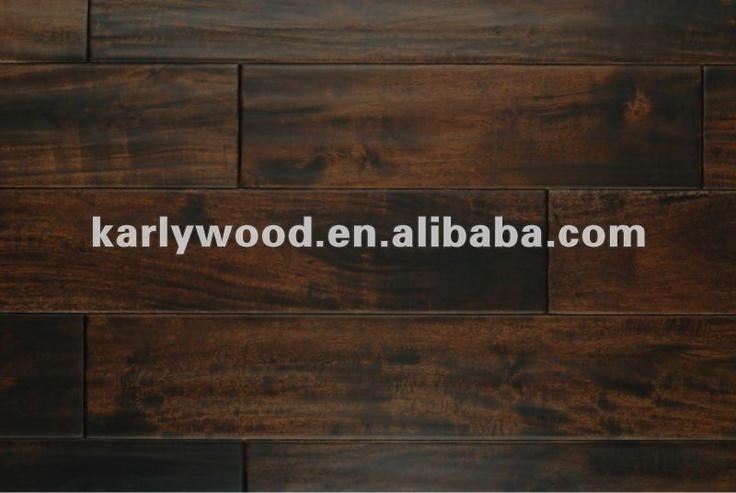 lm flooring acacia  hand scraped   Alta qualidade da mão- raspada acacia pisos de madeira sólida ...