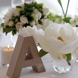 Simplicity- use our letters for guest book table or rehearsal dinner