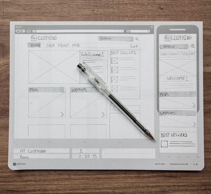 Responsive Sketch Pad by UI Stencils