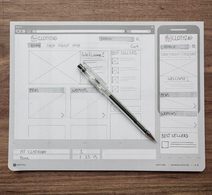 Responsive Sketch Pad by UI Stencils