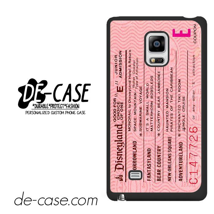 Pink Disneyland Ticket DEAL-8658 Samsung Phonecase Cover For Samsung Galaxy Note Edge