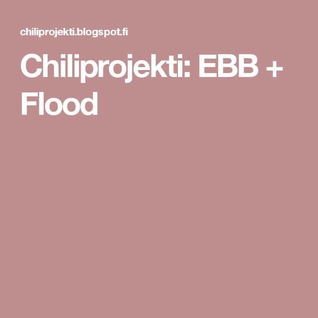 Chiliprojekti: EBB + Flood